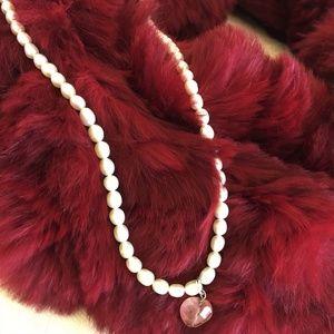 Saks Fifth Avenue Jewelry - **SALE  **SALE !    PEARLS, QUARTZ HEART